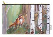 Red Fox And Cardinals Carry-all Pouch