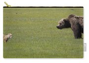 Red Fox  And Grizzly Bear Carry-all Pouch