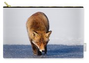 Red Fox Crossing A Frozen Lake Carry-all Pouch
