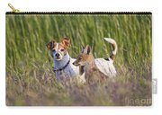 Red Fox Cub With Jack Russel Carry-all Pouch