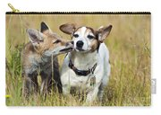 Red Fox Cub With Jack Russell Carry-all Pouch