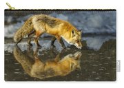 Red Fox Has A Drink Carry-all Pouch