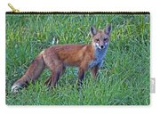 Red Fox In A Field Carry-all Pouch