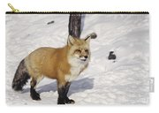 Red Fox In The Snow Carry-all Pouch