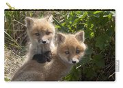 Red Fox Kits Playing Alaska Carry-all Pouch