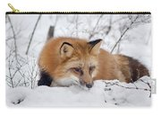 Red Fox Making Dinner Plans Carry-all Pouch