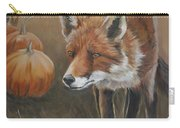 Red Fox With Pumpkins Carry-all Pouch