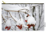 Red Fruit With Snow Carry-all Pouch