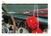 Red Fuzzy Dice In Converible Carry-all Pouch
