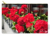 Bunches Of Vibrant Red Pelargonium Flowering  Carry-all Pouch