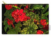 Red Geranium Line Art Carry-all Pouch