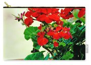 Red Geranium Carry-all Pouch