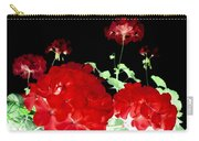 Red Geraniums Carry-all Pouch by Will Borden