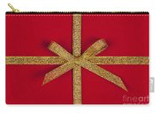 Red Gift With Gold Ribbon Carry-all Pouch by Elena Elisseeva