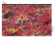 Red-golden Alpine Vegetation Background Carry-all Pouch