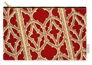 Gothic Pattern On Red Carry-all Pouch