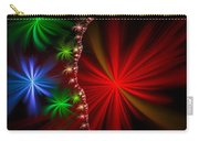 Red Green And Blue Fractal Stars Carry-all Pouch