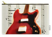 Red Guitar Carry-all Pouch by Bill Cannon