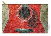 Red Guitar Center - Digital Painting - Music Carry-all Pouch