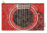 Red Guitar - Digital Painting - Music Carry-all Pouch