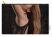 Red Hair Black Lace Carry-all Pouch