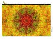Red Heart Sun Rainbow Mandala Carry-all Pouch