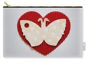 Red Heart With Butterfly Carry-all Pouch