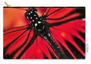 Red Heliconius Dora Butterfly Carry-all Pouch by Elena Elisseeva