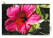 Red Hibiscus Carry-all Pouch by Robert Bales