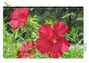 Red Hollyhocks Carry-all Pouch
