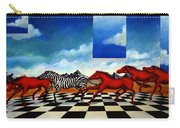 Red Horses With Zebra Carry-all Pouch
