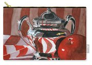 Red In Silver Carry-all Pouch