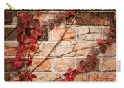 Red Ivy Leaves Creeper Carry-all Pouch