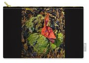 Red Leaf On Moss Carry-all Pouch