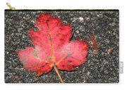 Red Leaf On Pavement Carry-all Pouch