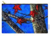 Red Leaves Blue Sky In Autumn Carry-all Pouch