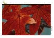 Red Leaves On The Branches In The Autumn Forest. Carry-all Pouch