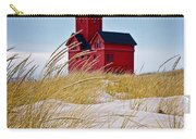 Red Lighthouse By Holland Michigan Known As Big Red Carry-all Pouch