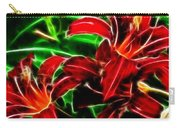 Red Lilies Expressive Brushstrokes Carry-all Pouch