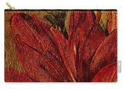 Red Lily Gold Leaf Carry-all Pouch