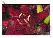 Red Lily Raindrops Carry-all Pouch
