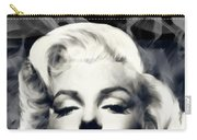 Red Lips Marilyn In Smoke Carry-all Pouch