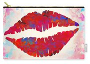 Red Lips Watercolor Painting Carry-all Pouch