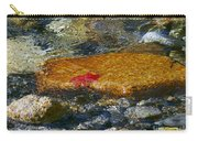 Red Maple Leaf In Stream Carry-all Pouch
