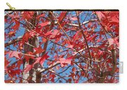 Red Maple Leaves  Carry-all Pouch