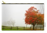 Red Maple Tree And A Split-rail Fence Carry-all Pouch