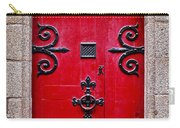 Red Medieval Door Carry-all Pouch by Elena Elisseeva