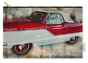 Red Mini Nash Vintage Car Carry-all Pouch