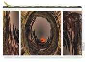 Red Moon Rising - Abstract - Triptych Carry-all Pouch
