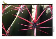 Red Needles On Barrel Cactus Carry-all Pouch